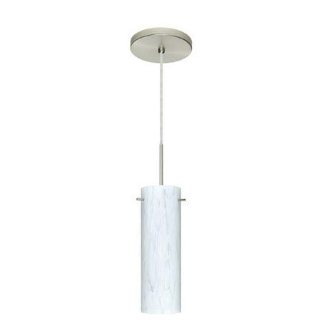 Besa Lighting 1BT-493019 Copa 1-Light Cord-Hung Pendant with Carrera Glass Shade 1 Light Cord Pendant