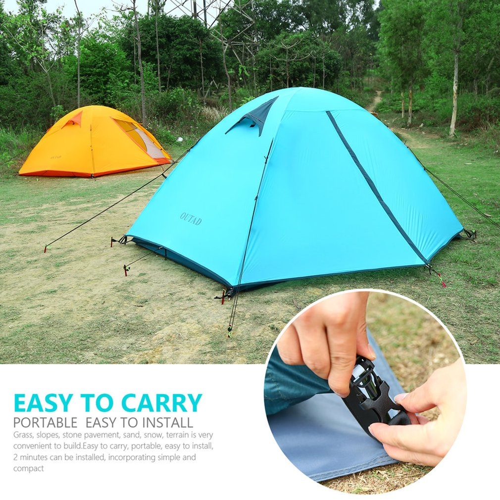 3-4 Person Camping Hiking Traveling Tunnel Tent Waterproof Shelter Canopy w.Bag