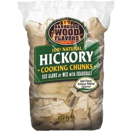 Barbeque Wood Flavors 432 Cu in Hickory Chunks 20001