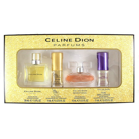 Private Collection Pure Fragrance Spray - Collection 4 Pc. Gift Set ( Contains Eau De Toilette Spray 0.375 Oz Of Signature + Pure Brilliance & Eau De Toilette Spray 0.5 Oz. Sensational + Eau De Toilette Spray 1.0 Oz )