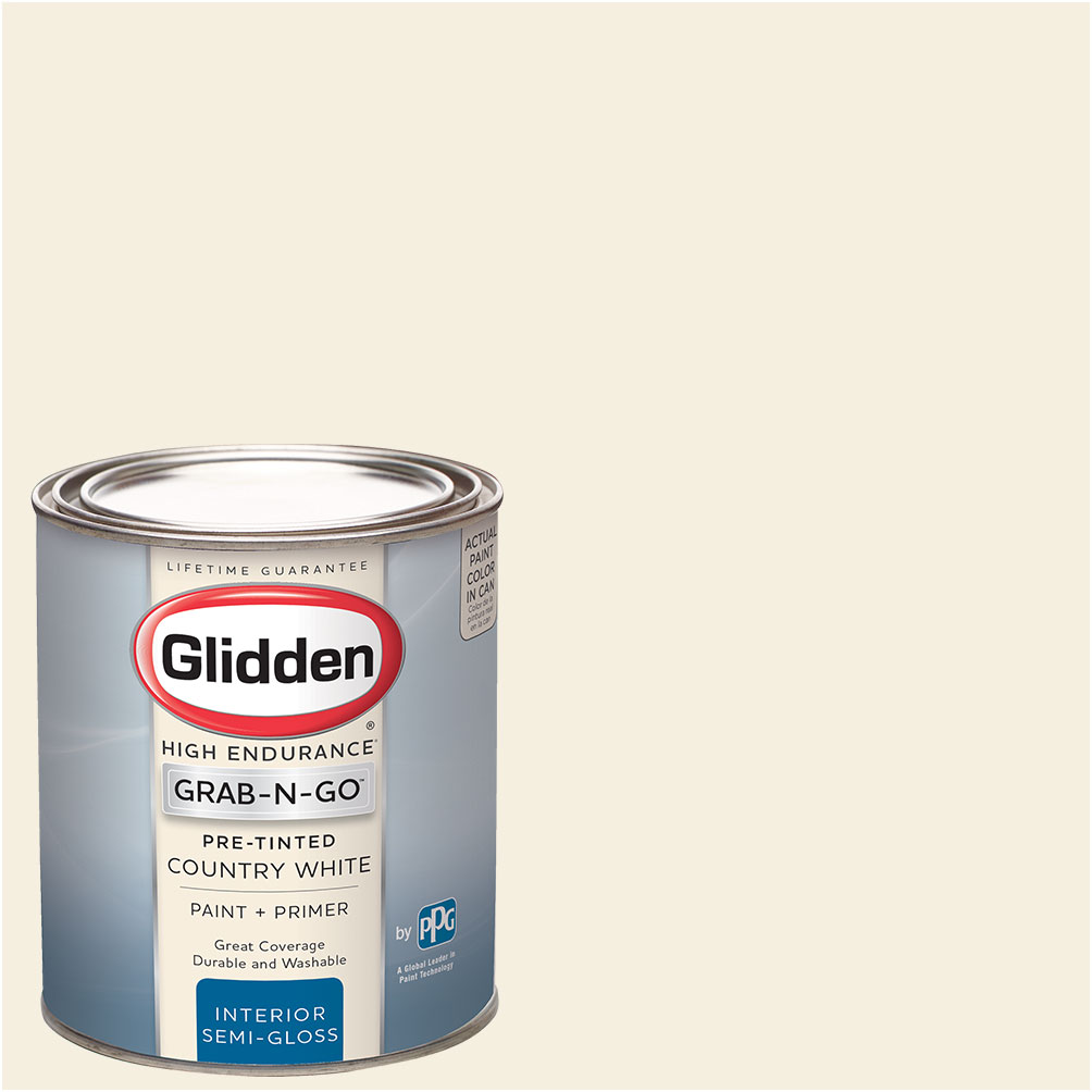 Great Glidden Pre Mixed Ready To Use, Interior Paint And Primer, Country White    Walmart.com