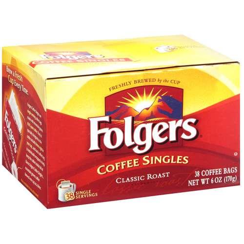 Folgers Coffee Singles, 38 ct