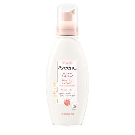 Triple Care Cleanser - Aveeno Ultra-Calming Foaming Cleanser for Sensitive Skin, 6 fl. oz