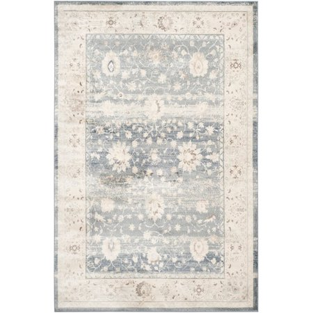 "Safavieh Vintage 5'1"" X 7'7"" Power Loomed Rug in Dark Gray and Cream - image 2 of 5"