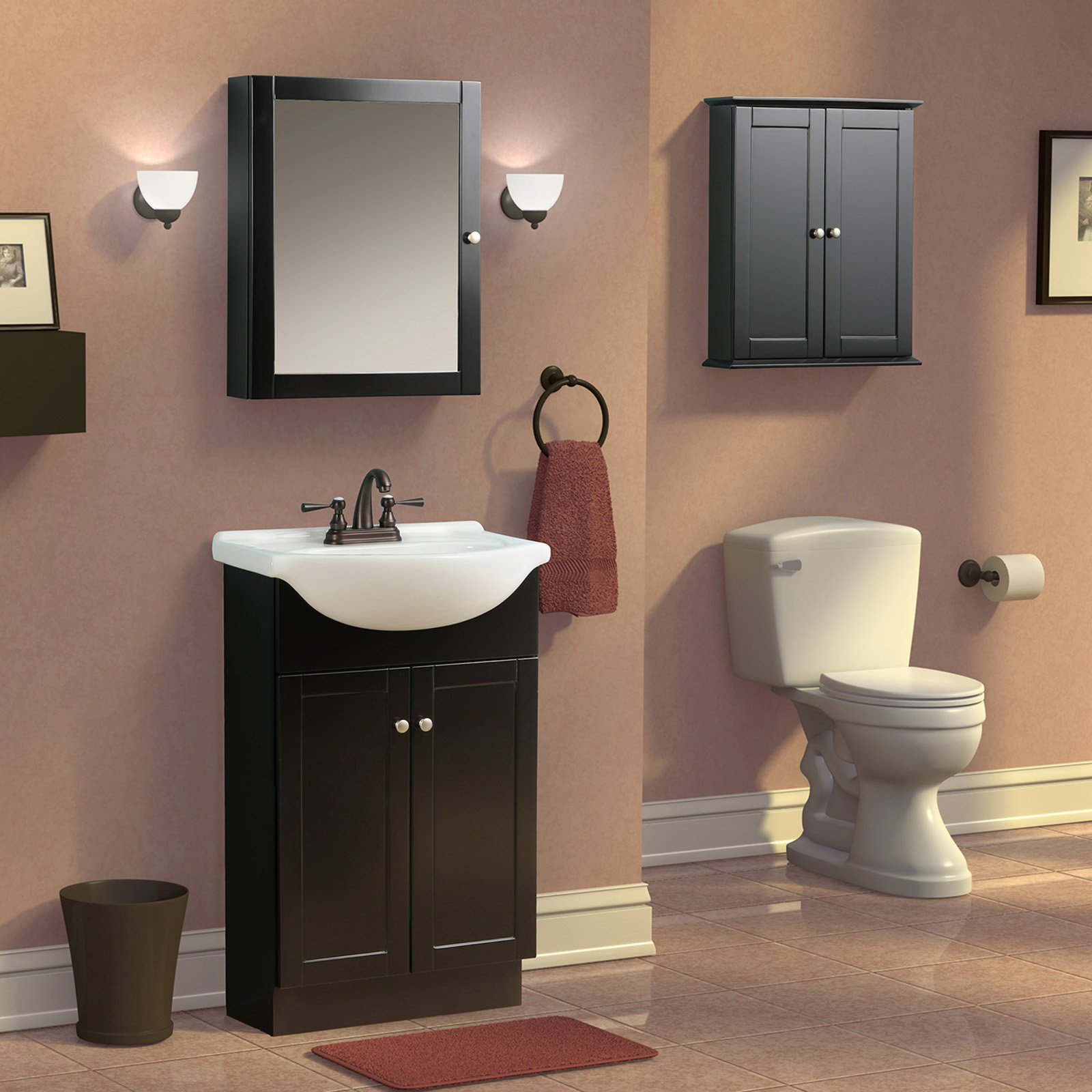 bathroom wall cabinets espresso foremost columbia 19 in espresso bathroom medicine 17101