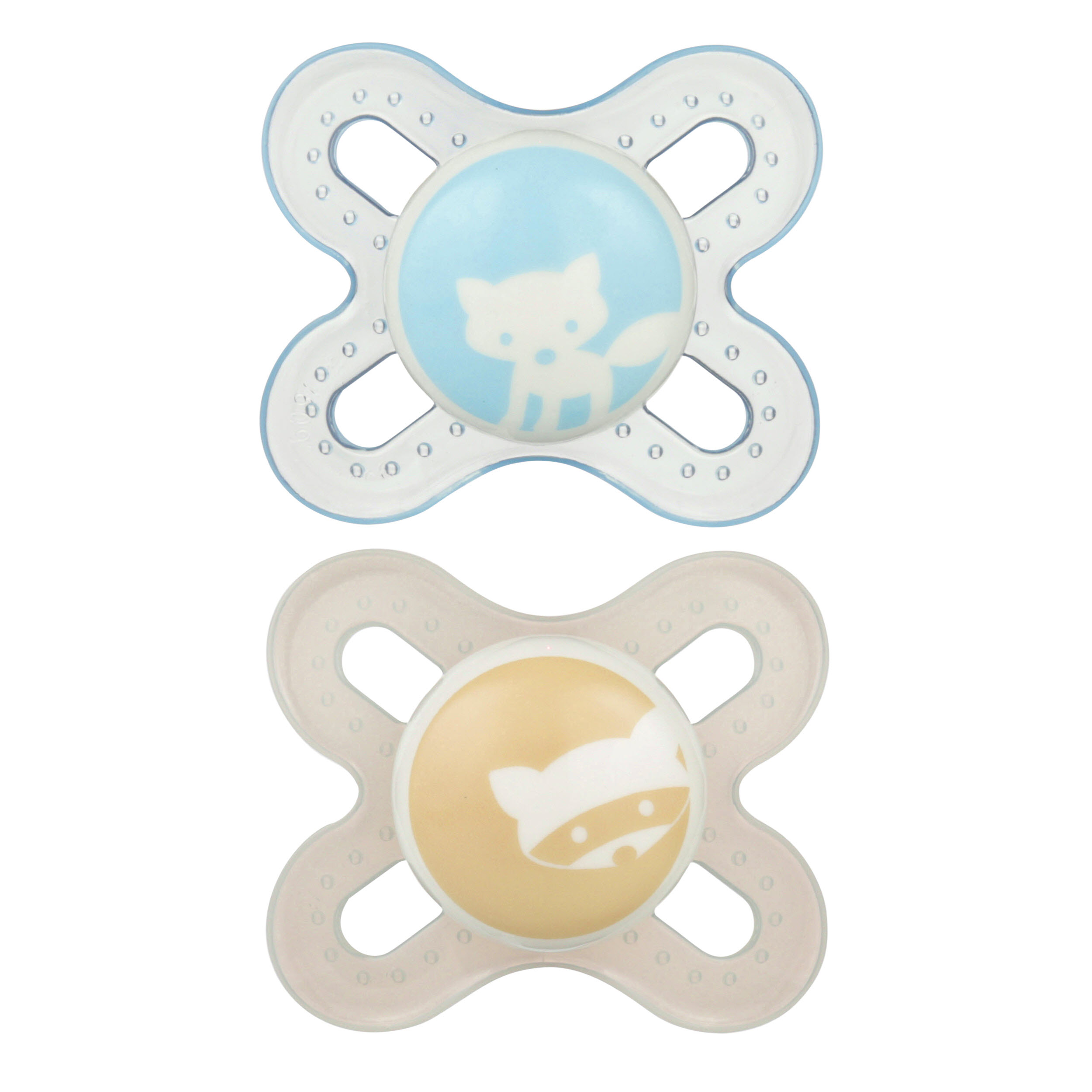 MAM Newborn Start Orthodontic Pacifier, 0+ Months, 2-Count, Boy