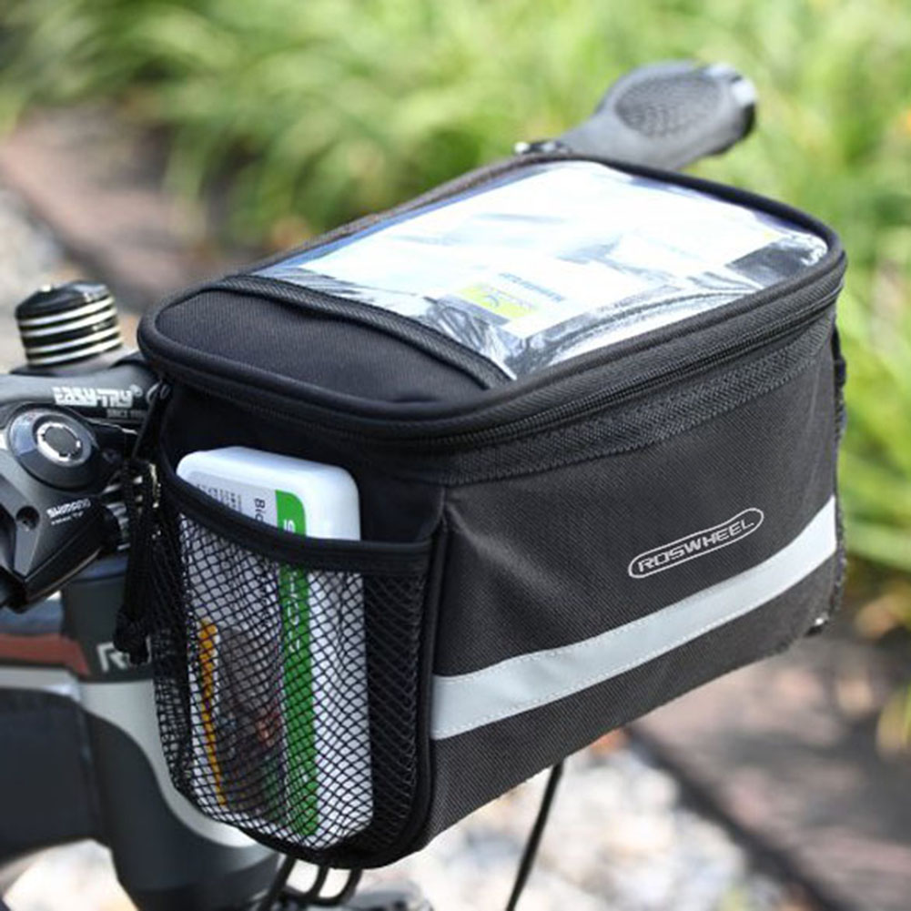 Bike Bicycle Cycling Outdoor Front Basket Pannier Frame Tube Handlebar Bag