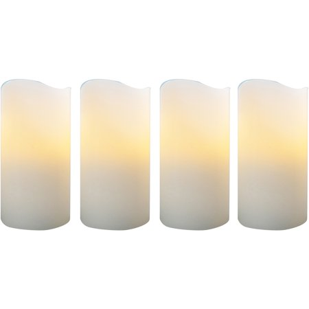 Better homes and gardens flameless led pillar candles 4pk vanilla Better homes and gardens diffuser