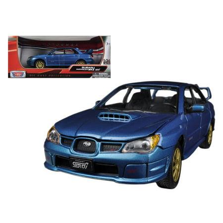 Subaru Impreza WRX STi Blue 1/24 Diecast Car Model by (Wrx Sti Wagon)
