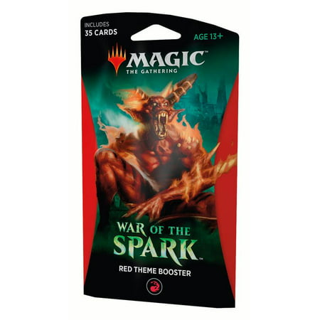 Magic: The Gathering War of the Spark Theme Booster 2 Pack Bundle- Red