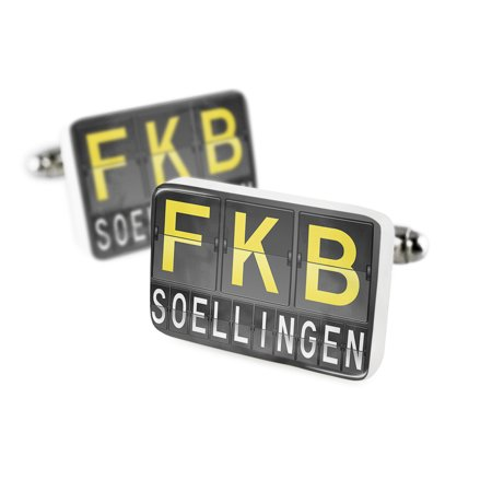 Cufflinks Fkb Airport Code For Soellingenporcelain Ceramic Neonblond