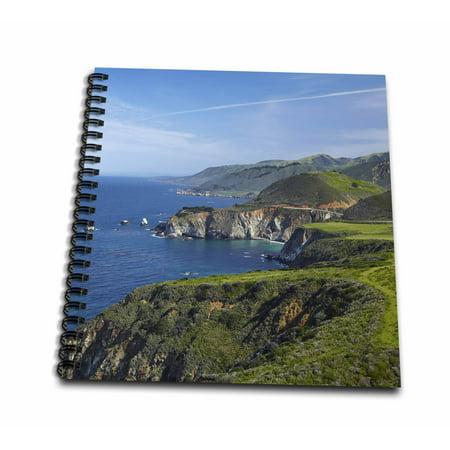 3dRose California, Big Sur, Coastline along Pacific Coast Highway. - Mini Notepad, 4 by 4-inch Big Sur Coast Highway