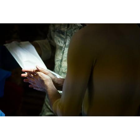 U.S. Air Force Lt. Col. Gerald Fortuna, trauma surgeon, 86th Medical Group, Ramstein Air Base, Germa Poster Print 24 x