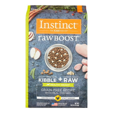 Instinct Raw Boost Healthy Weight Grain Free Recipe with Real Chicken Natural Dry Dog Food by Nature's Variety, 20 lb. (Natures Variety Instinct Raw Dog Food Reviews)