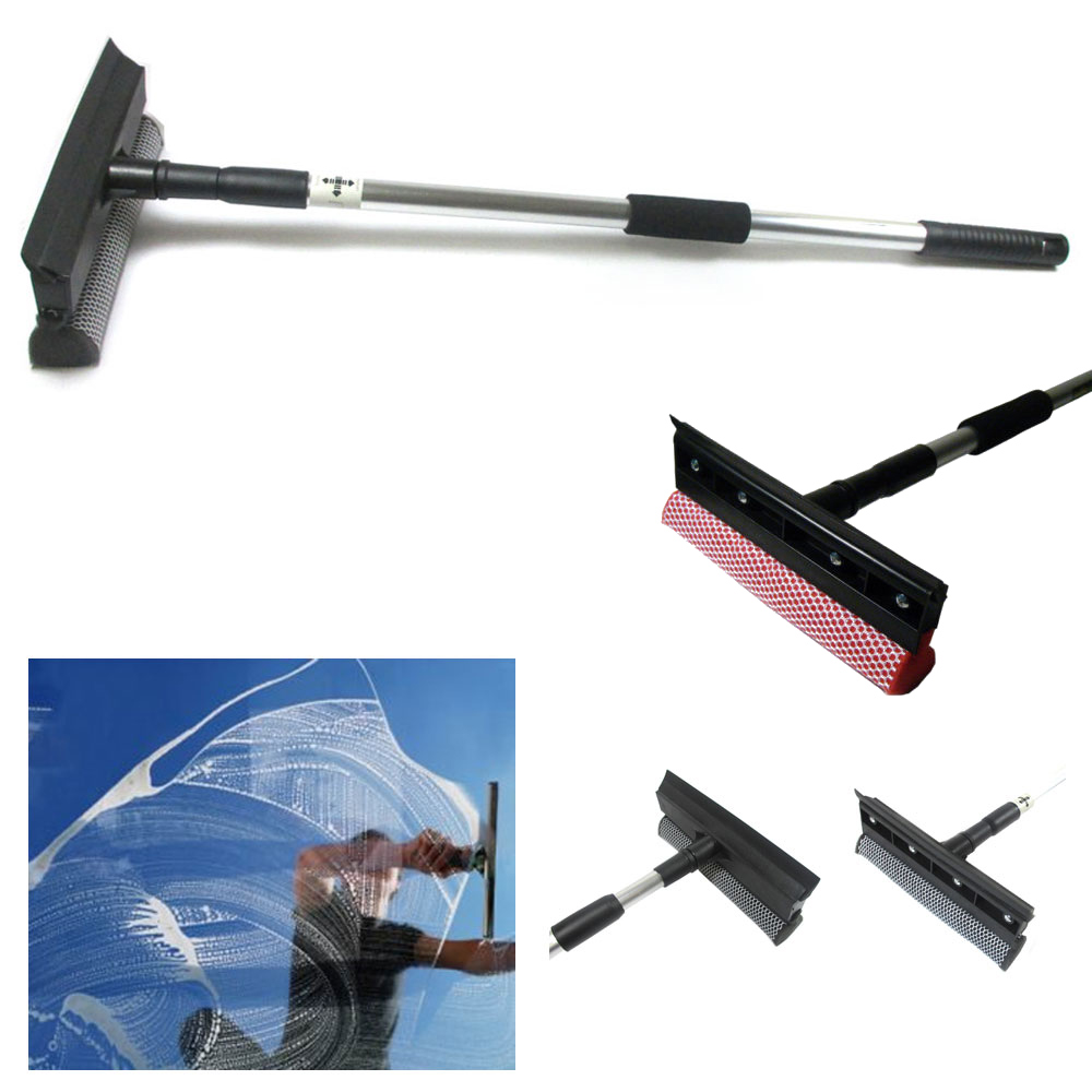 Window Squeegee Cleaning Tool Window Cleaner Car Squeegee Windshield Cleaning Sponge and Rubber Squeegee,BlackM