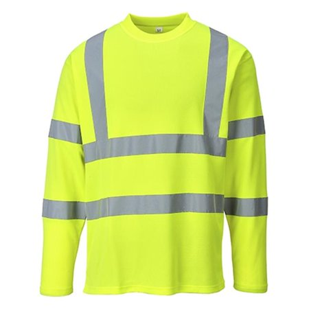 - Portwest S278 3XL Hi-Visibility Long Sleeves T-Shirt, Yellow - Regular