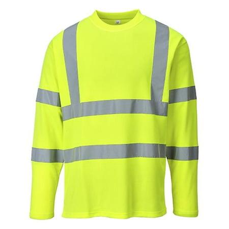 Portwest S278 3XL Hi-Visibility Long Sleeves T-Shirt, Yellow - Regular - image 1 of 1