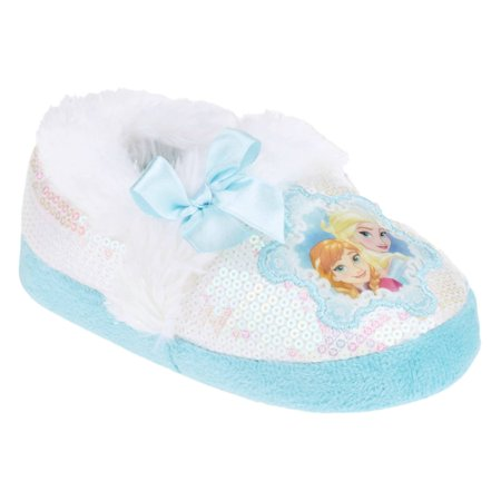 Disney Frozen Toddler Girls Sequin Princess Anna & Elsa Slippers](Frozen Elsa Slippers)