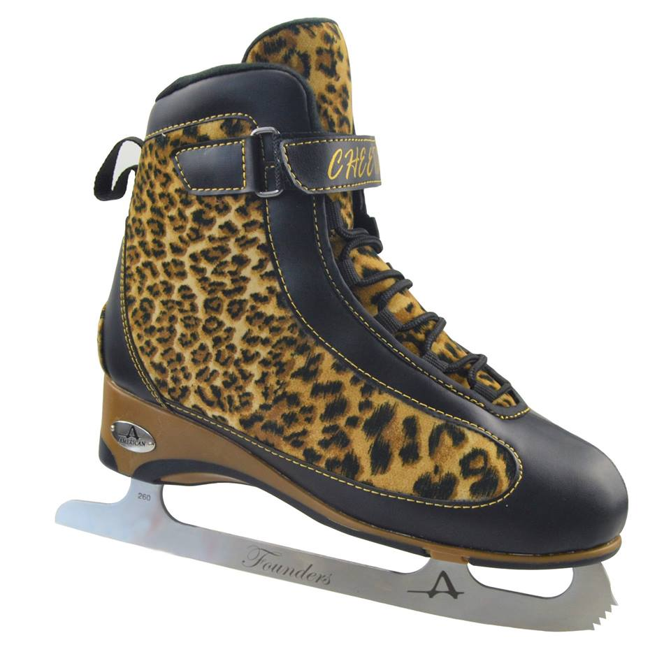 American Athletic Women's Soft Boot Cheetah Figure Skate