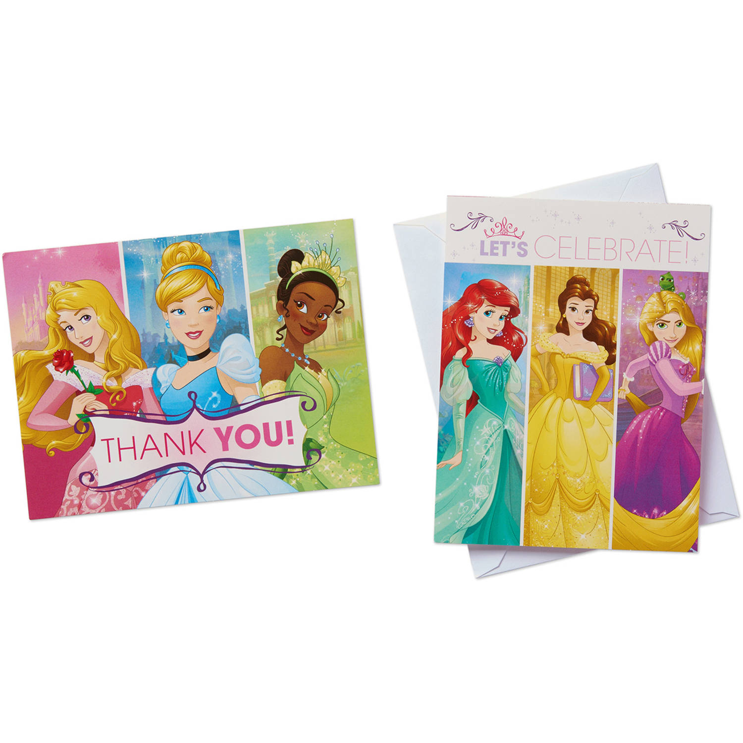Disney Princess Party Invite and Thank You Combo Pack, 8ct