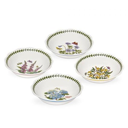 Portmeirion White Dish (Portmeirion Botanic Garden Terrace Assorted S/4 Scalloped Bo )