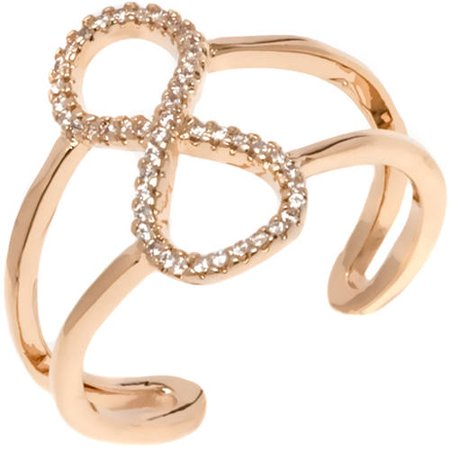 CZ 18kt Gold-Tone Infinity Ring