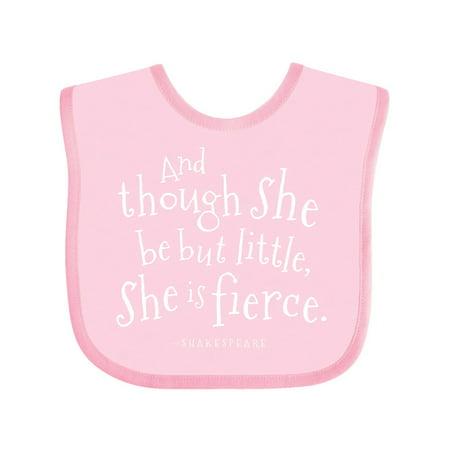 Inktastic Shakespeare Lover Quote Infant Bib Unisex Pink