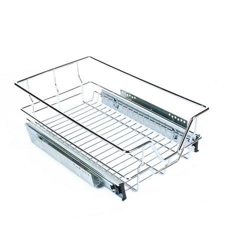 K4 Pull Out Kitchen - Kitchen Sliding Cabinet Organizer,VBESTLIFE Pull Out Chrome Wire Storage Basket Drawer Kitchen Cabinets