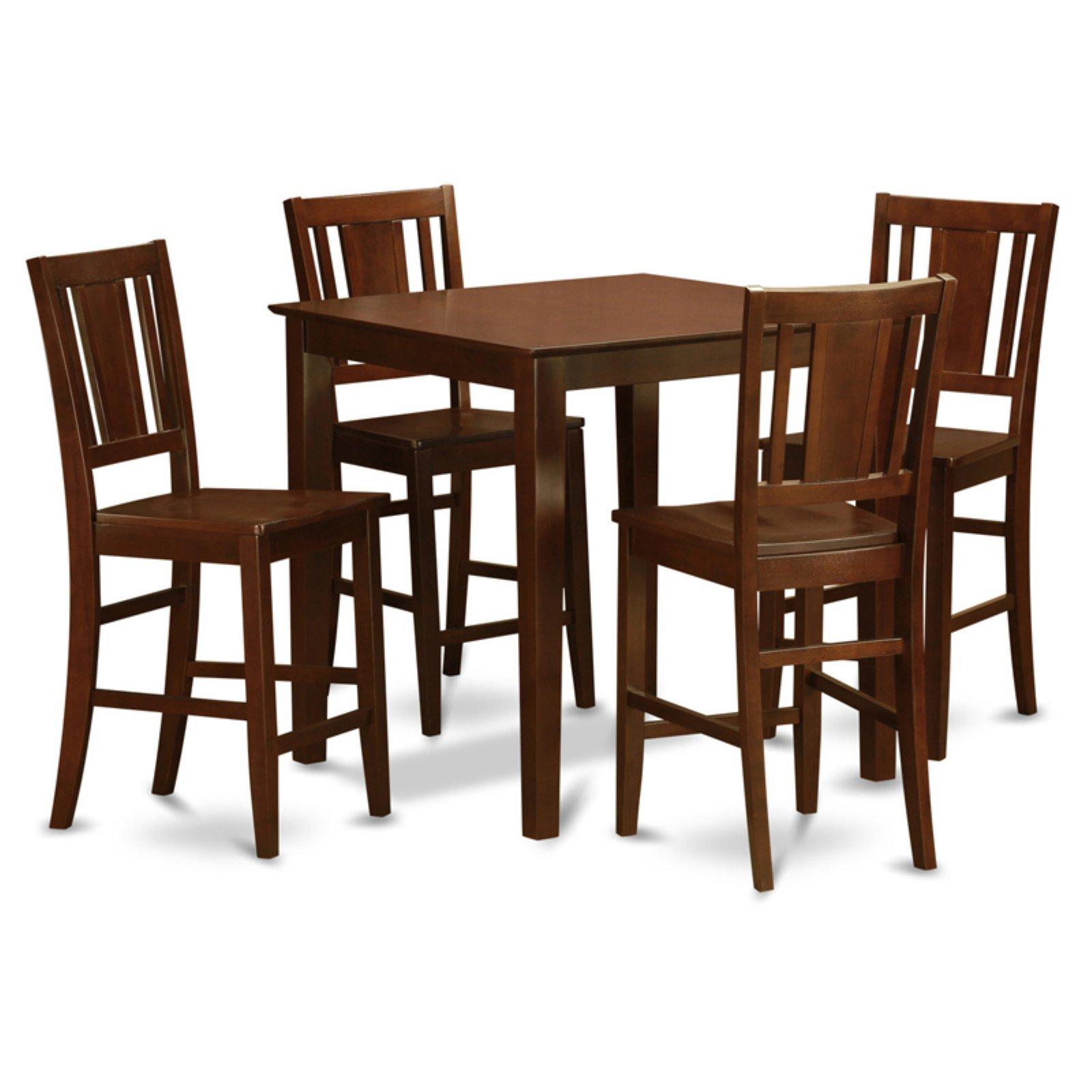 East West Furniture Vernon 5 Piece Scotch Art Dining Table Set