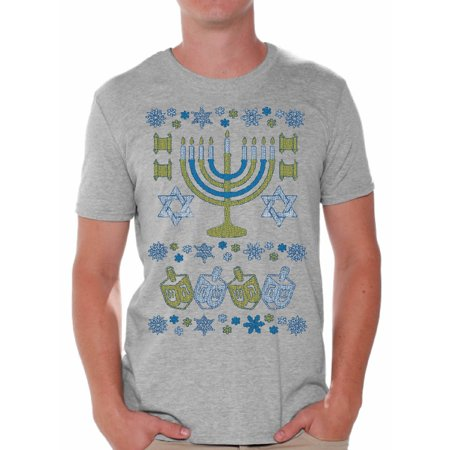 - Awkward Styles Hanukkah Menorah Shirt Funny Hanukkah Shirts for Men Ugly Hanukkah T Shirt Holiday Gifts for Him Jewish Tshirt Jewish Men Happy Hanukkah Shirt Jew Shirt Holiday Tshirt Menorah Gifts