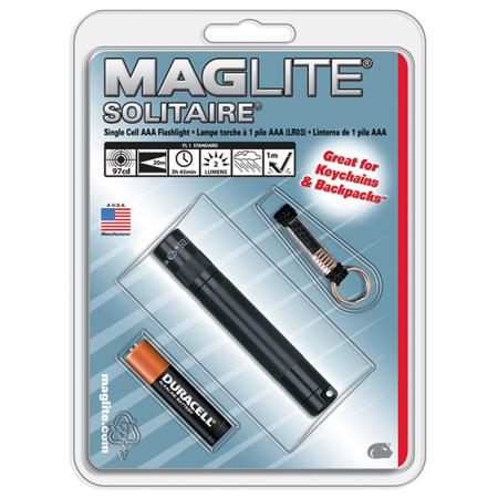 Maglite Green Solitaire AAA Adjustable Beam Key Chain Flashlight Light