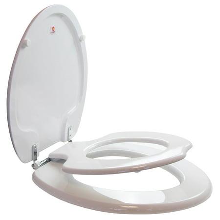 Sedona Beige Elongated Toilet Seat - Topseat 6TSTE9999CP TinyHiney Potty Elongated Toilet Seat