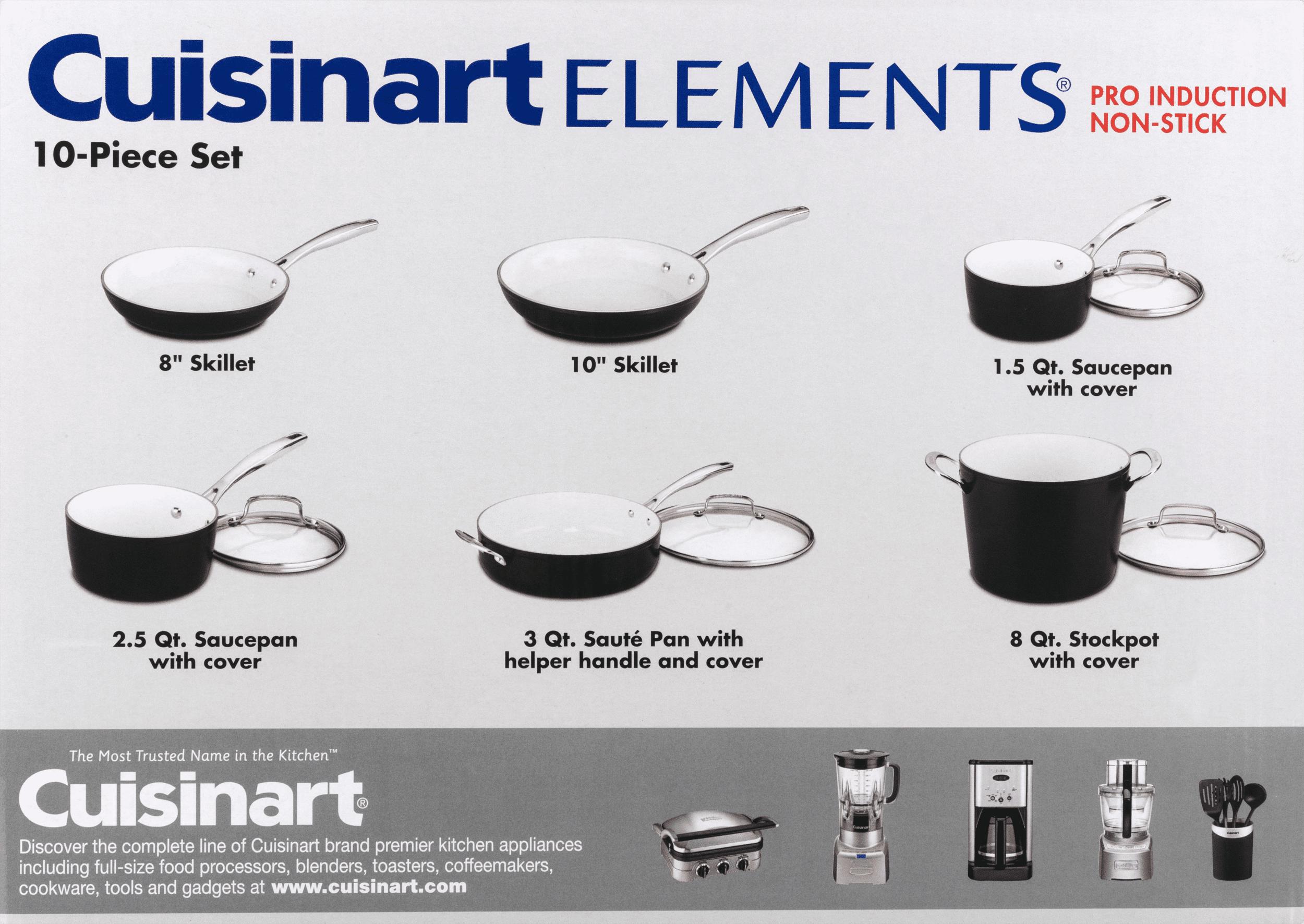 Cuisinart Elements Nonstick 10 Piece Set Walmart Com Walmart Com