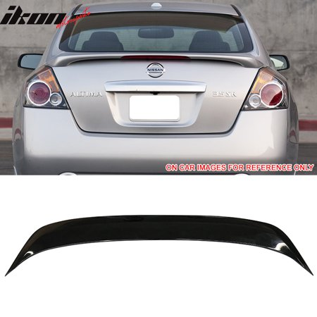 Fits 07-12 Nissan Altima Sedan Factory Style Trunk Spoiler Painted #KH3 Black (Nissan Altima Coupe Rear Spoiler)