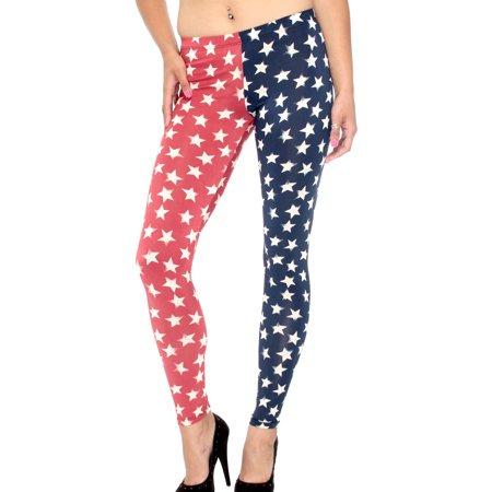 6257a7aff2b Simplicity - Women s American Star United State Full Ankle length Leggings  - Walmart.com