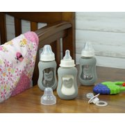 Parent's Choice 5 Ounce Glass Baby Bottle with Silicone Sleeve - 3 Pack