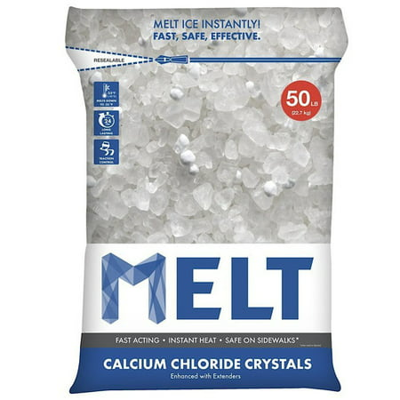 Snow Joe MELT Calcium Chloride Crystals Ice Melter (50 lb. Resealable Bag) – (Ice Melt 50 Lb Bag)