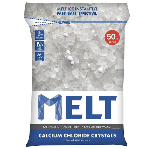 Snow Joe MELT Calcium Chloride Crystals Ice Melter (50 lb. Resealable Bag) ��� MELT50CC