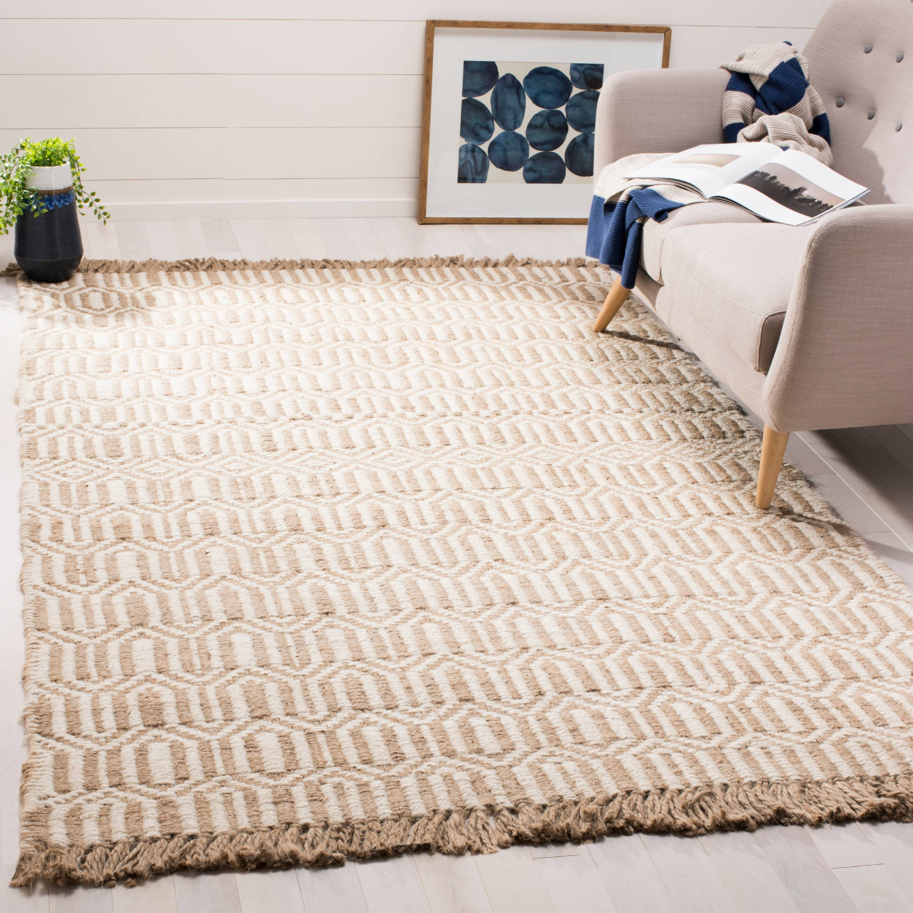 Safavieh Natural Fiber Jakov Geometric Area Rug or Runner