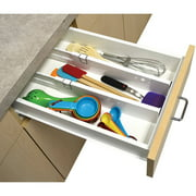 Ideaworks Set of 2 Adjustable Drawer Dividers - Kitchen Organizer - Extendable Compartments
