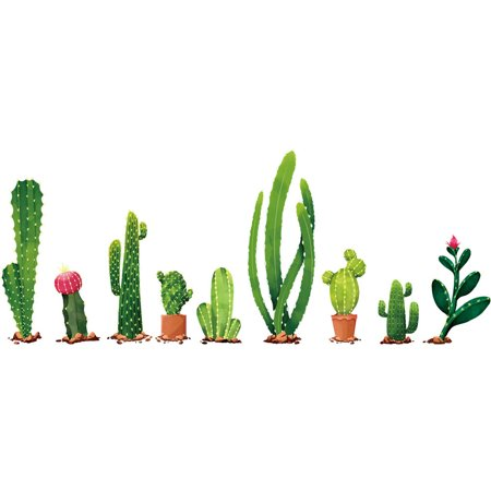 Outtop DIY Cactus Removable Wall Decal Family Home Sticker Mural Art Home Decor](Cactus Decor)