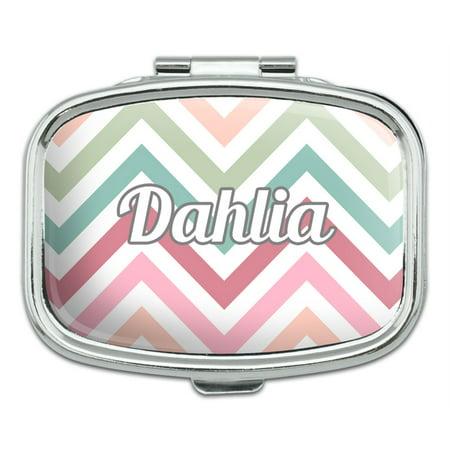 Female Names - Dahlia - Rectangle Pill Box