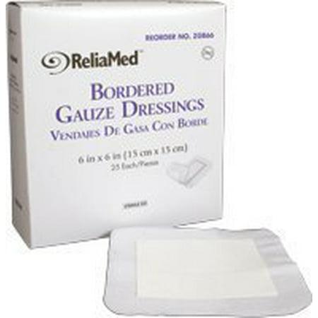 Bordered Gauze Dressing (ReliaMed Sterile Bordered Gauze Dressing 6