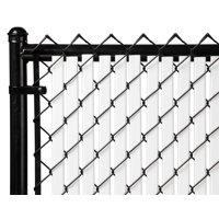 White 4ft Tube Slat for Chain Link Fence