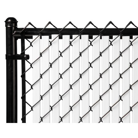 White 5ft Tube Slat for Chain Link Fence Slats Chain Link Fences