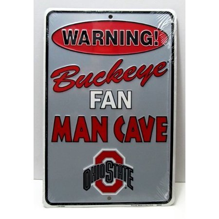 Ohio State Buckeyes Man Cave Sign Gift NCAA Football OSU 8x12 Dorm Room