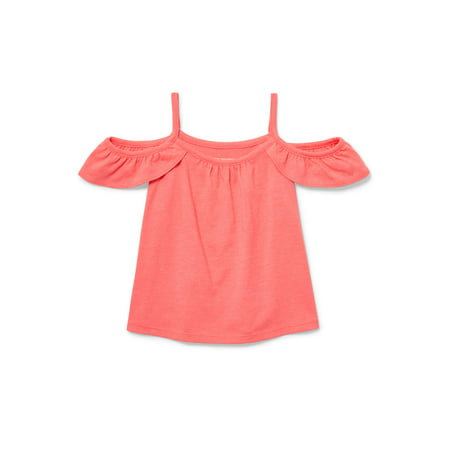 Children's Place Toddler Girls' Cold Shoulder Ruffle Tank Top