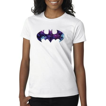 Blue And Grey Batman (New Way 631 - Women's T-Shirt Batman Dark Knight Galaxy Logo)