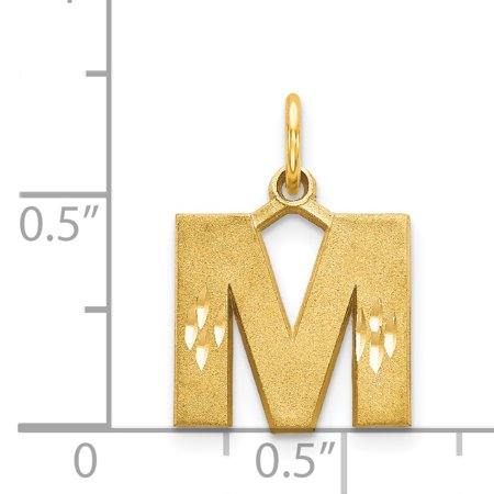 14k Yellow Gold Initial Monogram Name Letter M Pendant Charm Necklace Fine Jewelry Gifts For Women For Her - image 3 of 3