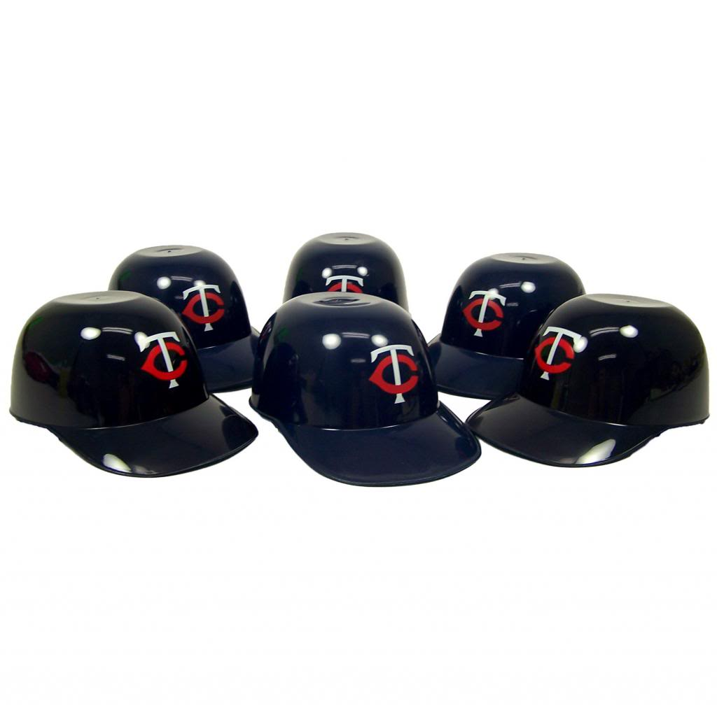 Minnesota Twins Official MLB 8oz Mini Baseball Helmet Ice Cream Snack Bowls (6) by Rawlings